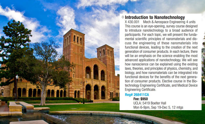 Introduction to Nanotechnology Course is Launched at UCLA in Fall 2016