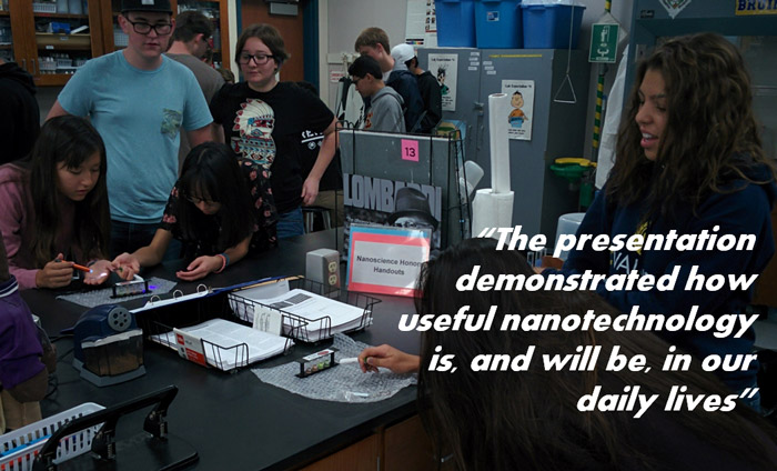 STEM Students Understand Value and Importance of Nanotechnology in Daily Life