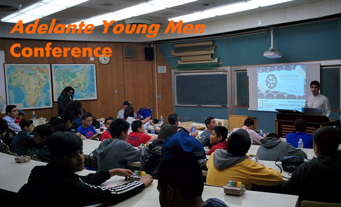 Adelante Young Men Conference Attendees Learn About Cutting Edge Nanotechnology