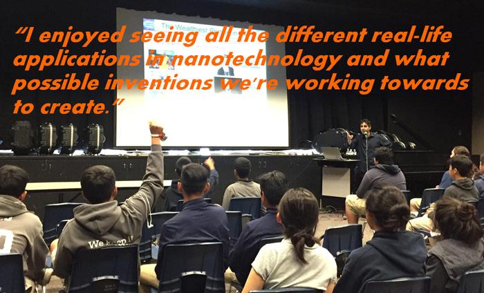 Omni Nano gives Nanotechnology Workshop at the Oxford Academy