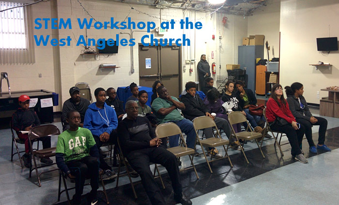 Students at West Angeles Church Learn about Nanotech and its Applications to Future Careers