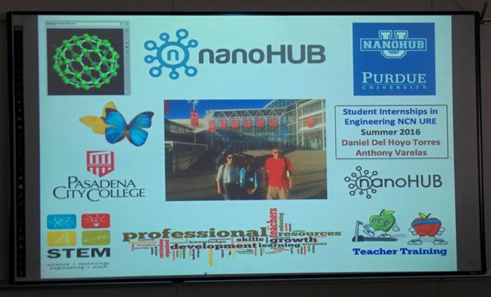 Nanoscience Workshop at nanoHUB was a Hit at Pasadena City College