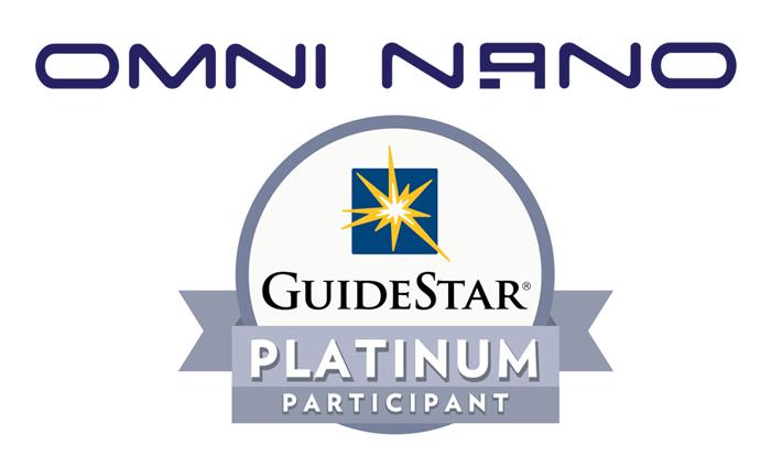 Omni Nano Goes Platinum on GuideStar NonProfit!