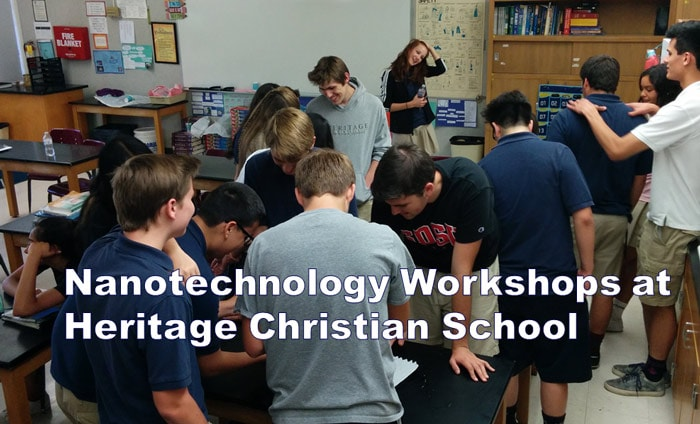 Students Participate in Nanotech Workshop at Heritage Christian School
