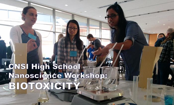 LA-Local science teachers getting trained on a biotoxicity nanotech lab at UCLA's CNSI.