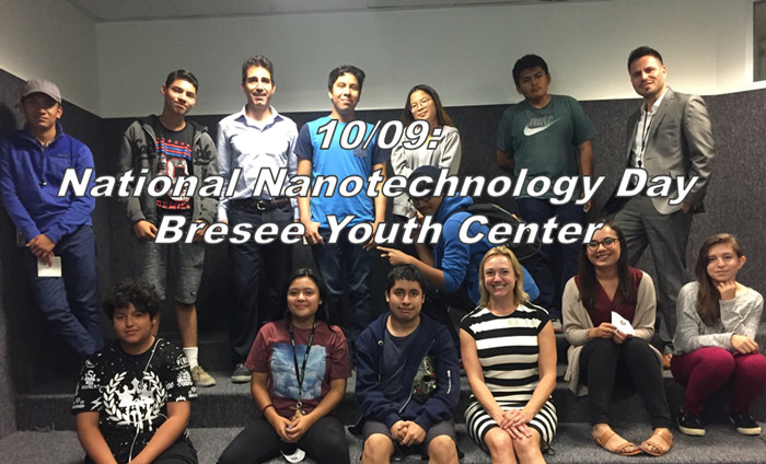 Workshop presented by Omni Nano at Bresee Youth Center for National Nanotechnology Day.