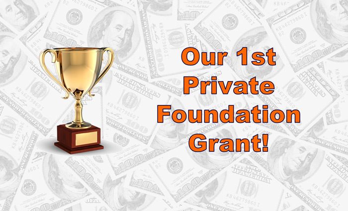 Omni Nano was awarded its first grant from a private foundation.
