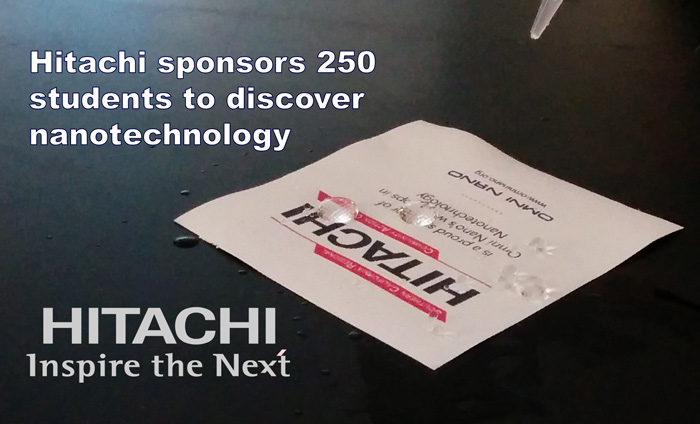 Sponsorship for Omni Nano by Hitachi empowered 250 students to discover nanotechnology this year.