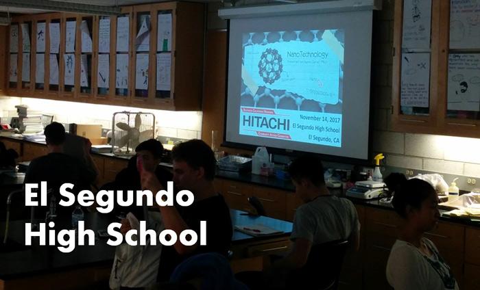 Omni Nano presented its Discover Nanotechnology Workshops to 140 students at El Segundo High School.
