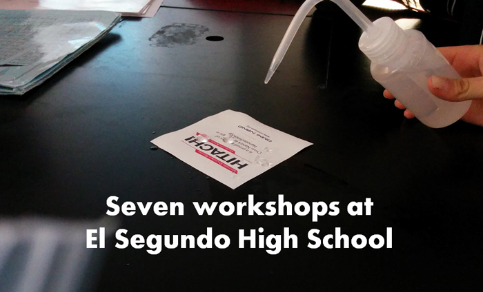Omni Nano presented its Discover Nanotechnology Workshops to over 100 students at El Segundo High School.