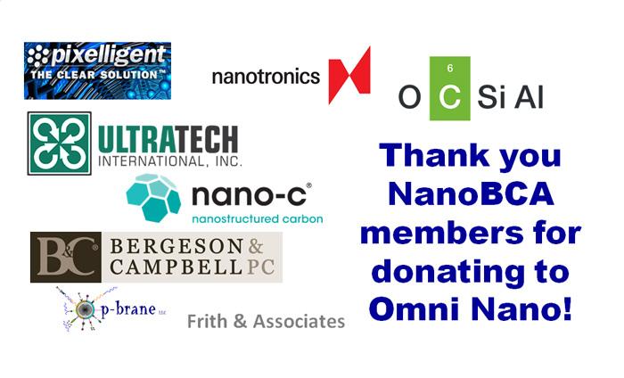NanoBCA members that supported Omni Nano's fundraising effort toward the Challenge Grant.
