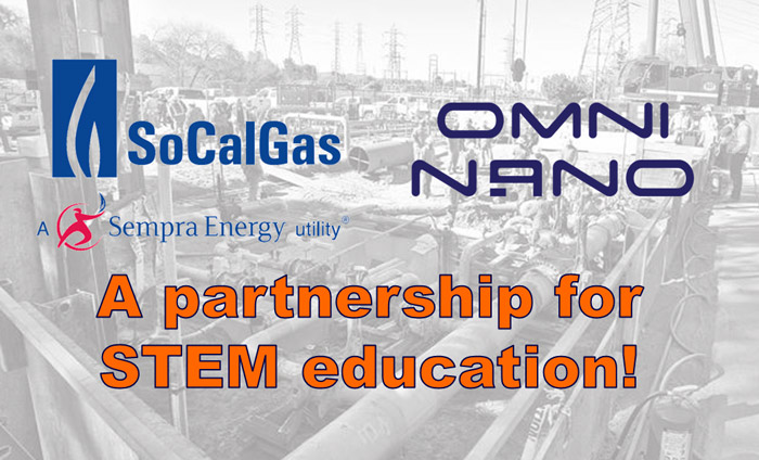 """SoCal Gas Company is now supporting Omni Nano's """"Discover Nanotechnology"""" workshops."""