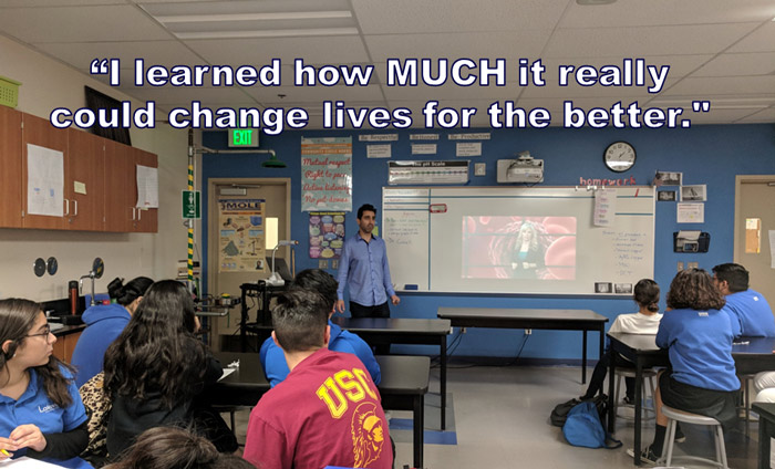Omni Nano presented its Discover Nanotechnology Workshops to 100 students at Lakeview Charter School in Sylmar, CA.