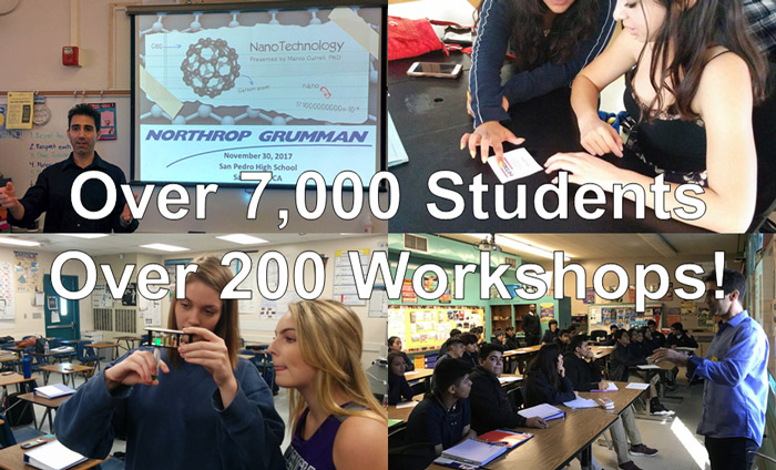 Omni Nano presented over 200 of its Discover Nanotechnology Workshops to over 7,000 students in the past 4 years.