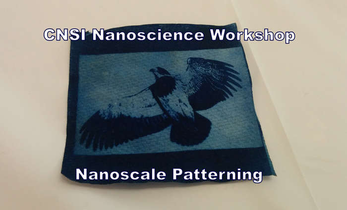 Science teachers getting trained on techniques for nanoscale patterning at UCLA's CNSI.