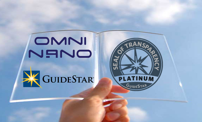 For the third year in a row, Omni Nano is recognized as a GuideStar Platinum member for our commitment to organizational transparency.