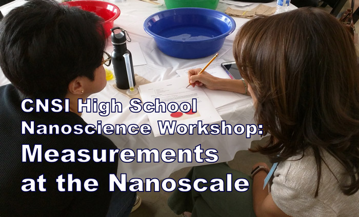 Science teachers getting trained on taking measurements at the nanoscale at UCLA's CNSI.