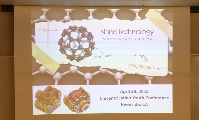 For the fourth year in a row, Omni Nano presented three nanotechnology/STEM workshops at the Chicano/Latino Youth Conference at UCR.