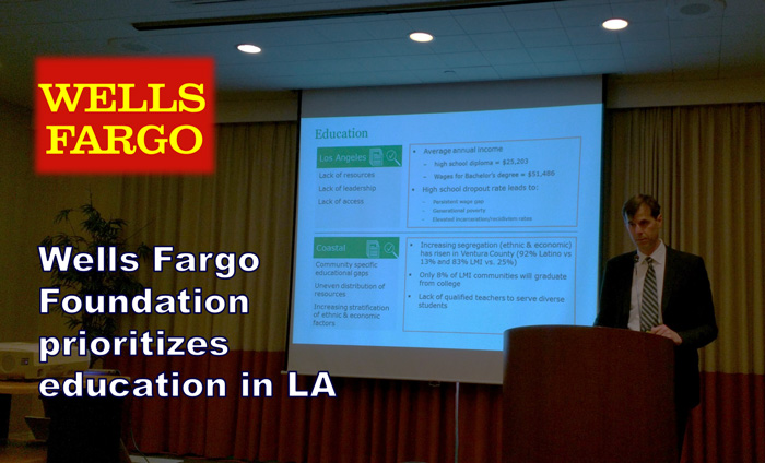 Today, the Wells Fargo Foundation presented at the AFP luncheon.