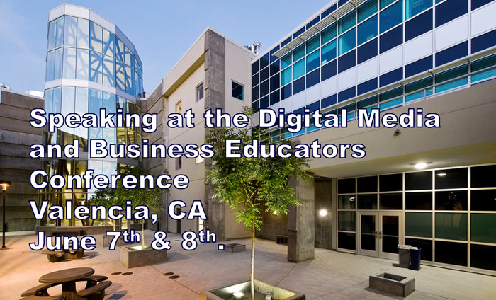 Omni Nano speaking at the Digital Media and Business Educators Conference