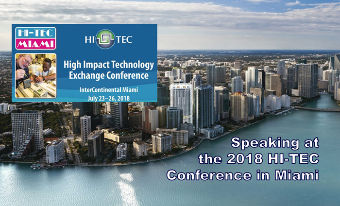 Speaking at the 2018 HI-TEC Conference in Miami.