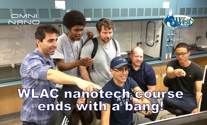 Nanotechnology students at West Los Angeles College.