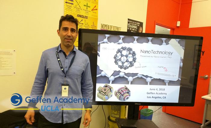 "Omni Nano striking ""nano-inspiration"" in the students at the UCLA Geffen Academy."