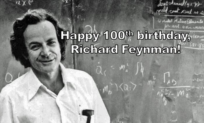 """Richard Feynman, the """"Father of Nanotechnology,"""" was born on this day in 1918."""