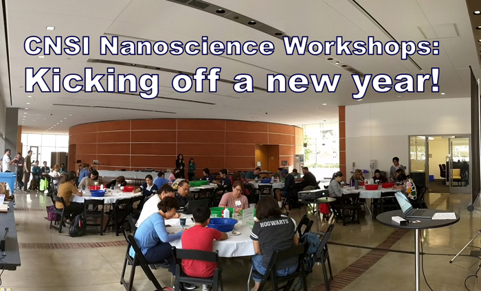 In this lab at the CNSI Nanoscience Institute at UCLA, science teachers learned how to measure the size of molecules using simple light diffraction.