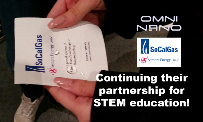Omni Nano is proud to be one of the few STEM guest speakers servicing the San Fernando Valley, thanks to support from SoCalGas.