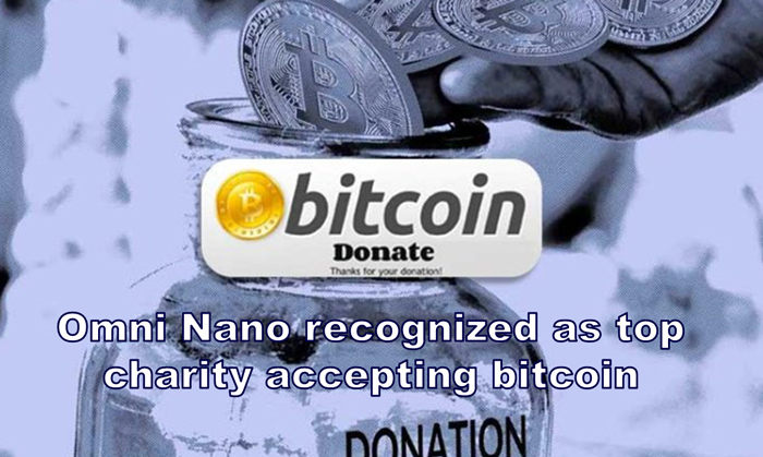 Omni Nano is thrilled to have been recognized in the news as a top bitcoin-accepting charity.