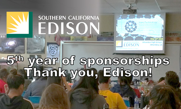 For the fifth year in a row, Edison has awarded Omni Nano with sponsorship for motivational STEM workshops
